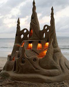 Illuminated Sand Castle, Imperial Beach, California