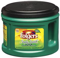Folgers Simply Smooth Decaf Coffee, 23 Ounce: Aroma seal canister, made from mountain grown beans, gentle on your stomach, one canister makes up to 180 6 oz. Folgers Coffee, Decaf Coffee, Coffee Drinks, Coffee Mugs, Coffee Shop Names, 2 Coffee Tables, Seattle Coffee, Coffee Maker Machine, Grocery Deals