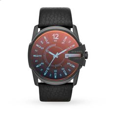 Mens Watches - Diesel Mega Chief Mens Watch - DZ1657 http://www.thesterlingsilver.com/product/emporio-armani-valente-mens-quartz-watch-with-brown-dial-and-brown-leather-strap-ar1701/