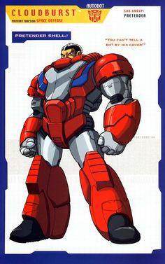 Transformers: Autobots - Pretenders - Cloudburst (Part Transformers Autobots, Transformers Characters, Comic Book Characters, Comic Books, Fictional Characters, Gundam, Transformers Generation 1, Transformers Masterpiece, Manga