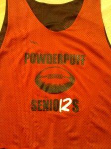 cool Senior Powder Puff Pinnies  - Senior Football Pinnies - Reversible Powder Puff Jerseys - Brookline Massachusetts Pinnies