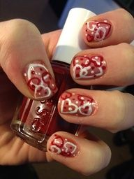 valentines day nail arl - Google Search