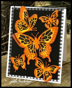 Erica Cerwin, San Antonio, TX Stampin' Up Demonstrator- Paper Butterflies, Butterfly Flowers, Butterfly Cards, Butterfly Mobile, Beautiful Butterflies, Owl Templates, Leaf Template, Crown Template, Applique Templates