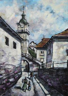 pucik / V starých uličkách (Spišská Sobota) Painters, Folk Art, Popular Art