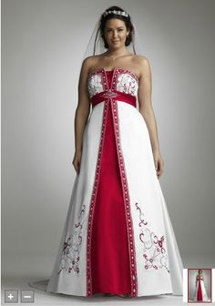 Wedding dresses: plus size colored wedding dresses