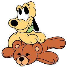 Resultado de imagem para minnie baby e pluto Baby Disney Characters, Cute Cartoon Characters, Cartoon Art, Disney Dogs, Disney Art, Disney Drawings, Cute Drawings, Dibujos Baby Shower, Pluto Disney