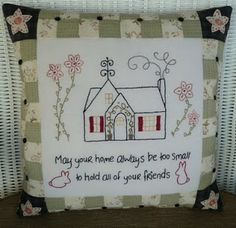 Friends pillow - valdani threads
