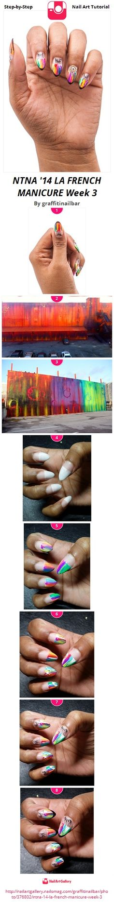 We were asked to create a french manicure inspired by Los Angeles.  Orly is the sponsor for the week and the creator of the french manicure. I was inspired by Risk Rock, an LA graffiti artist because his style is a lot like my own and was a perfect fit for my overall design.