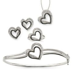 Window & Home Decor, Bedding, Clothing & Accessories Heart Jewelry, Fine Jewelry, Jewelry Box, Black Diamond Jewelry, Wedding Jewelry Sets, Diamond Heart, Jewelery, Jewelry Watches, Fashion Jewelry