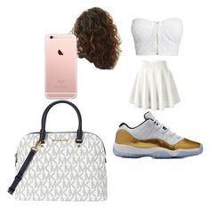 """""""white gang"""" by pettyallthe on Polyvore featuring NLY Trend and Michael Kors"""
