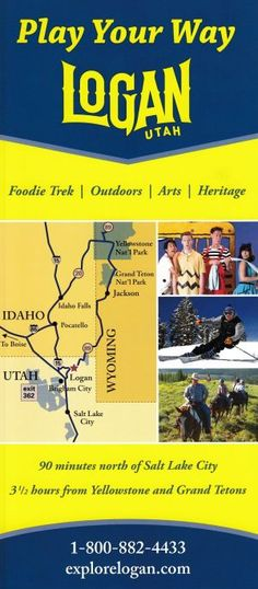 Discover your own adventure in Logan, Utah the most scenic way to America's national parks. Famous for outdoor beauty, hands-on heritage experiences, food tour and performing arts. Brochure Online, Logan Utah, Local Activities, Idaho Falls, Played Yourself, Performing Arts, My Heritage, Salt Lake City, Brochures
