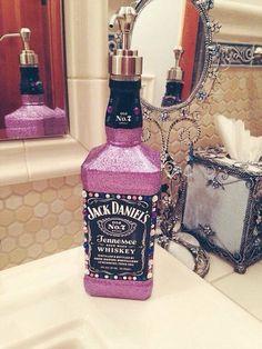 Jack Daniels bottle soap dispenser