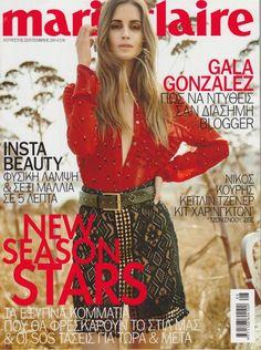 Gala Gonzalez cover shoot Marie Claire Grecia