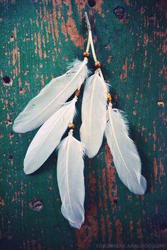 Bohemian Summer Feather Hair Clip, by francisfrank, via Etsy.