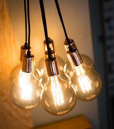 Cluster Lights, Light Bulb, Copper, Lighting, Home Decor, Products, Decoration Home, Light Fixtures, Room Decor