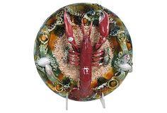 Majolica Lobster Wall Plate on OneKingsLane.com