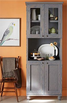 Build Your Own Dining Hutch Thats Both Elegant And Functional With Open Closed Display Shelving Lowes Creative Ideas