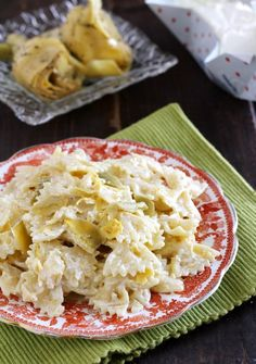 Pasta cremosa ai carciofini e robiola Dulcisss in forno by Leyla