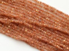 WHOLESALE 5 Strands Sunstone Beads Oregon by gemsforjewels on Etsy