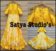 Indian Gowns, Indian Wear, Kurta Designs, Blouse Designs, Mom Daughter Matching Dresses, Anarkali Dress, Anarkali Suits, Mehendi Outfits, Tie Dye Dress