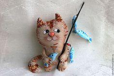 Котик - котик,кот,рыбак,авторская игрушка,подарок,сувениры и подарки,ткань хлопок