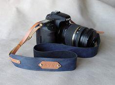 Cinturino in pelle per fotocamera fotografia, canon, nikon, ecc. - fotocamera in pelle cinghie