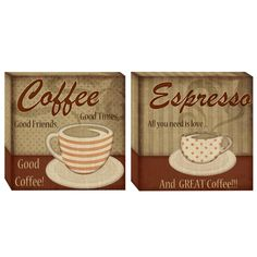 Classic Coffee - Canvas Wall Art