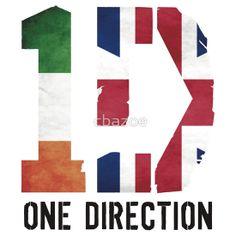 One DIrection - Irish & British Flag - with Logo