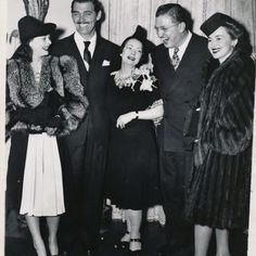 Gone With the Wind premiere - Vivien Leigh, Clark Gable, author Margaret Mitchell, producer David O. Selznick, Leslie Howard and Olivia de Haviland.