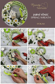 Wreath Tutorial, Free Tutorials, Wreaths, Table Decorations, Spring, Home Decor, Decoration Home, Door Wreaths, Room Decor