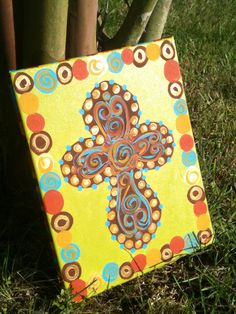 Cross Canvas by MyClarksCreations on Etsy, $40.00