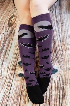 a63cde46d94f1 Batnado Glow In the Dark Knee High | There's a storm coming, a midnight  swirl