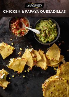 Add some tropical flair to a Mexican dinner recipe with sweet morsels of papaya mingled with chicken, guacamole and melty, savory Sargento Shredded Colby-Jack Cheese. Read the full recipe on Sargento.com.