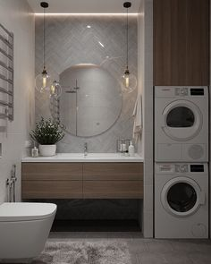 More than just a room, this will be your 5 options of laundry room layout ideas. Transitional, traditional, pet-friendly, and a couple more laundry room design ideas. Laundry Room Layouts, Laundry Room Design, Bathroom Layout, Modern Bathroom Design, Bathroom Interior Design, Interior Design Living Room, Bathroom Designs, Laundry Bathroom Combo, Bathroom Renos
