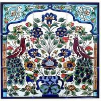 MoroccanSpanishMexicanItalian Tile Pieces Mosaic Art  Mixed Media- 9 16 Ceramic Mosaic Tile Pack -Various Colors or 36 Pieces
