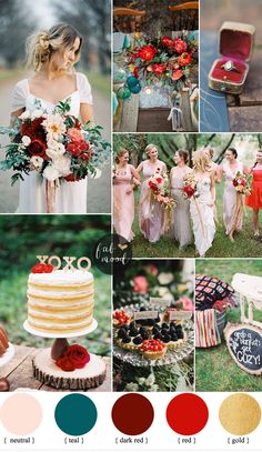 We continuing the FALL with Rustic Glam Fall Wedding With Mismatched Neutral Bridesmaid Dresses that will sweep you away with fall color dark red,red,teal..
