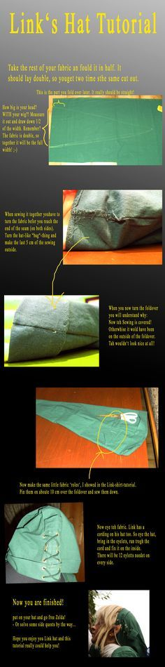 Link Cosplay hat tutorial by Eressea-sama.deviantart.com on @deviantART