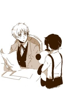 Arthur with young Ka Lung (head-canon name for Hong Kong) - Art byもちもち子