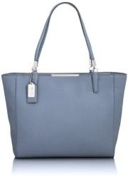 COACH Madison EW East/West Tote Bag Saffiano Leather Cornflower 29002