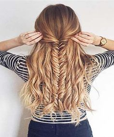 Simple Braid & Curls Hairstyle 2016 | Image Valley