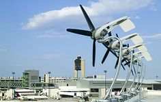 Architectural Wind - small wind turbine that can be mounted on the top edge of a building.