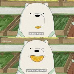 We Bare Bears Wallpapers, Panda Wallpapers, Cute Cartoon Wallpapers, Ice Bear We Bare Bears, We Bear, Cartoon Quotes, Cartoon Pics, Cartoon Network, Bear Wallpaper