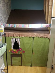 Made a playhouse for the kids in the back room of my studio. Did this in one night. Pvc pipes, flannel material,  and lots of fabric hot glue!
