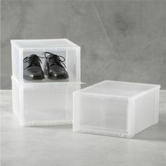 Large Clear Shoe Box  | Crate and Barrel
