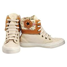 Tênis Converse All Star CT As Flowers Boot Bege