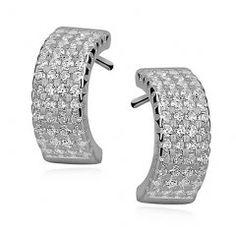 Stříbrné náušnice s puzetou - půlkruhy Bracelets, Silver, Jewelry, Fashion, Bangles, Jewlery, Moda, Money, Jewels