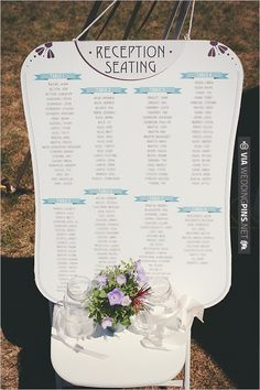 Create A Seating Chart That Matches Your Typeface Colors And Invitiation Style For Instant Recognition From Guests Continuing Your Personalized Choices