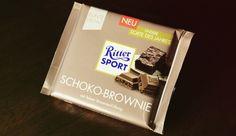 Ritter Sport Schoko Brownie – mit feiner Brownie Füllung – Gefüllte Vollmilch-Schokolade mit Brownie-Creme (39%) und Schokoladenstückchen (6%)