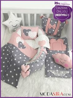 Modastra - Babynest - Babynest Costum Sets - Carry Cot Cover and Stroller Cushion - Baby Play Mats - Baby Bottom Cleaning Bed - Cotton Fabrics - Upholstery Fabrics - Baby Nest - Baby Care Product and Baby Set, Swollen Ankles, Baby Play, Cot, Baby Care, Sewing Projects, Toddler Bed, Handmade, Furniture