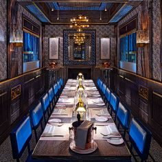 Designed by David Collins (who also kitted-out the Wolseley), BBR is a delightful riot of opulence – pink uniformed waiters, 'press for champagne' buttons – which makes you feel like you are dining on the Orient Express.  1 Upper James Street, London W1 Bobbobricard.com   - HarpersBAZAAR.co.uk